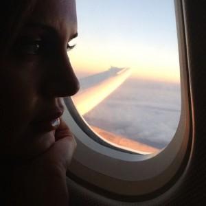 الناز شاکردوست در هواپیما