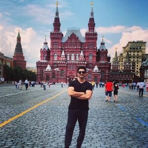 عکس های فرزاد فرزین در مسکو