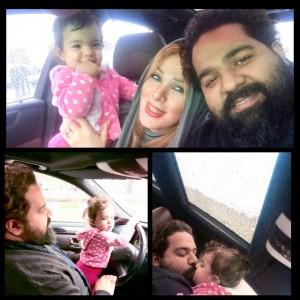عکس رضا صادقی در کنار خانواده اش
