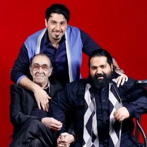 عکس رضا صادقی و خواجه امیری و استاد ایرج