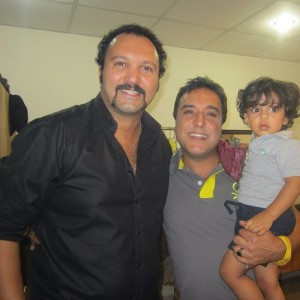 عکس کامبیز دیرباز در کنار بهزاد محمدی