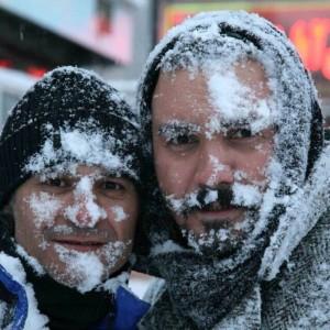 عکس های کامبیز در برف