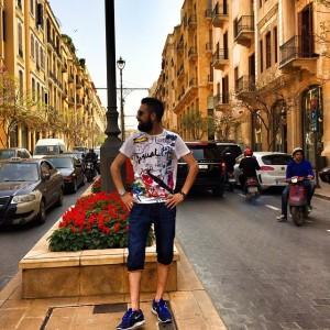 عکس محسن افشانی در لبنان