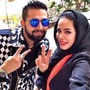 عکس جنگجالی محسن افشانی و ملیکا شریفی نیا