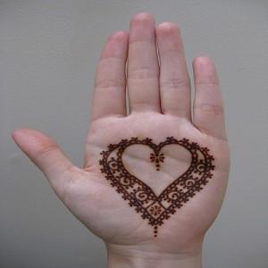 مدل قلب برای طراحی با حنا