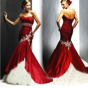 شیک ترین مدل لباس نامزدی قرمز رنگ