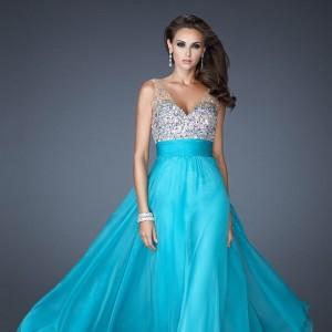 مدل لباس مجلسی آبی فیروزه ای