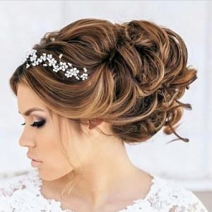 مدل شینیون برای موهای عروس