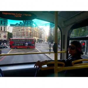عکس های الناز شاکردوست در اتوبوس لندن