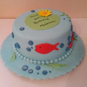 جدیدترین مدل کیک تولد با خمیر فوندانت
