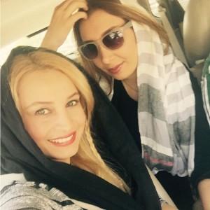 مریم کاویانی با دختر خاله اش