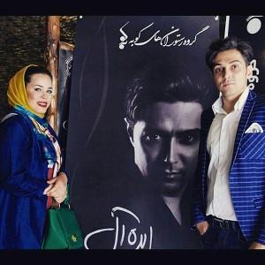 ملیکا شریفی نیا در کنار خواننده ها