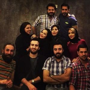 عکس های ملیکا شریفی نیا کنار بازیگران