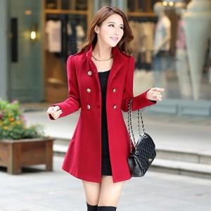 جدیدترین مدل پالتو دخترانه قرمز خوشرنگ
